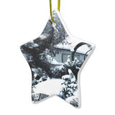 abstract of frozen bush ornaments keepsake ornaments zazzle