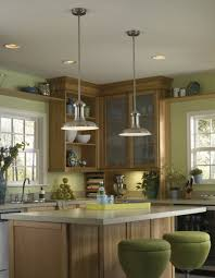 glorious two funnel pendant brushed chrome kitchen island lighting