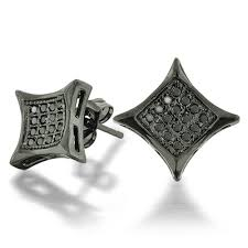black diamond earrings mens black diamond earrings princess cut
