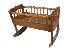 early oak spanish colonial baby crib circa early 1700s from