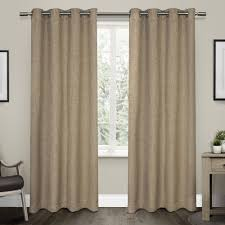 linen curtain panels branches linen blend grommet top window vesta heavy textured linen woven room darkening grommet top window curtain panel pair natural