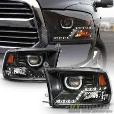 2009 dodge ram 1500 headlight bulbs black 2009 2017 dodge ram 1500 2500 3500 drl led projector halo