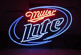 light up beer signs buy miller lite neon sign beer light up display bar decor stand or