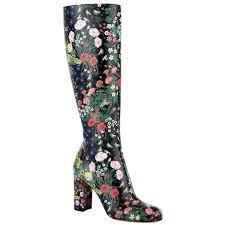 harrods s boots valentino camu garden knee high boot 1 755 liked on polyvore