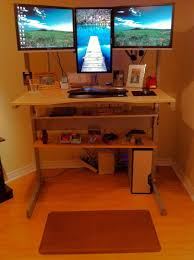 Ideal Height For Standing Desk Day 1 Of My Move To A Stand Up Desk Brian Nesbitt
