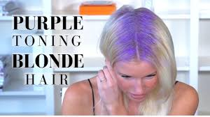 shimmer lights shoo before and after purple toning treatment on blonde hair brightening shoo routine