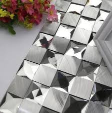 Modern Mirrors For Dining Room by Aliexpress Com Buy Modern Square Aluminum Mixed 5 Faced Diamond