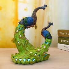 painted peacock wedding gifts unique delicate home decor