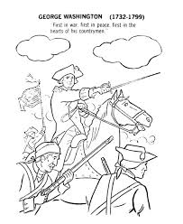 george washington lead usa for independence day event coloring