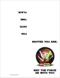Business Invitation Card Format Star Wars Birthday Invitation Template Kawaiitheo Com