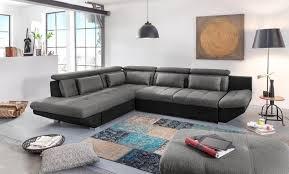 canapé d angle noir et gris canapé d angle eternity noir gris foncé sb meubles discount