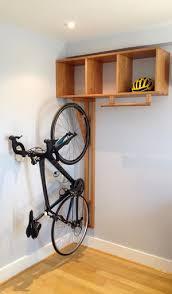 Living Room Bike Rack by Handcrafted Custom Designed Solid Wood Modern Indoor Bike Rack