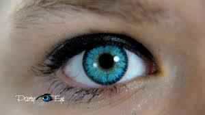 blue color contact lenses brown eyes niebieskie soczewki