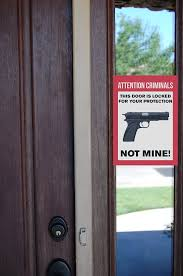 amazon com attention criminals this door is locked for your