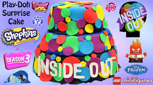 inside out cakes inside out play doh cake toys inside out