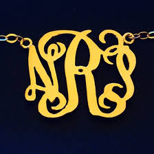 2 inch monogram necklace monogram necklaces personalized bracelets custom necklace