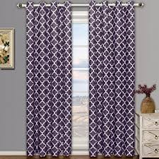 Hotel Room Darkening Curtains Meridian Purple Grommet Room Darkening Window Curtain