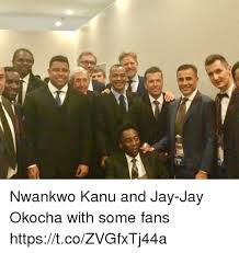 Jay Meme - nwankwo kanu and jay jay okocha with some fans httpstcozvgfxtj44a