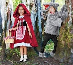 little red riding hood and wolf costume for halloween