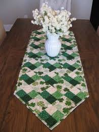st patrick s day table runner st patrick s day table runner patterns shamrock table runner