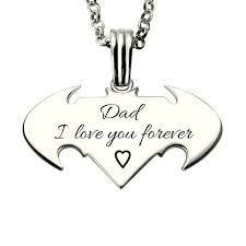 s day necklaces personalized wholesale personalized batman superman necklace in silver comics