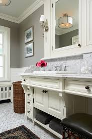 Benjamin Moore Gray Owl Bathroom - sumptuous kohler memoirs in bathroom traditional with double