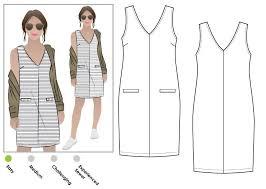 pattern a line shift dress sia knit dress pdf style arc