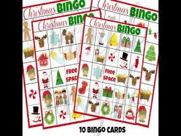 printable christmas bingo cards pictures printable christmas bingo cards youtube