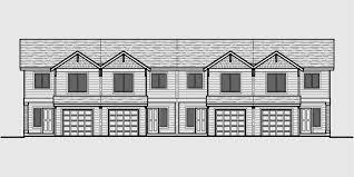 Building Plans For 3 Bedroom House 4 Plex Building Plans 4 Bedroom House Plans Row House Plans