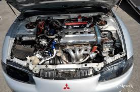 mitsubishi 3000gt engine bay frontline fabrication dsm evo 1 3 gvr4 billet aluminum