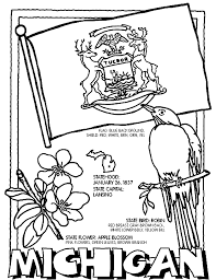 united states symbols coloring pages michigan coloring page homeschool stuff pinterest social