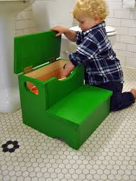 woodworking project how to build a storage step stool for kids diy
