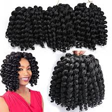 crochet braid hair 3 packs wand curl crochet hair synthetic crochet braids 8 inch