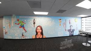 custom wall graphics denver print company our full color wide format printing allows for rich vibrant colors and photo realistic images they are great for accent walls reception backdrops