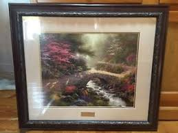 kinkade home interiors home interiors kinkade bridge of faith picture print