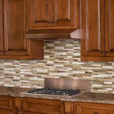 Stick On Kitchen Backsplash Smart Tiles Milano Sasso 11 55 In W X 9 65 In H Peel And Stick