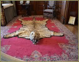 real tiger skin rug home design ideas