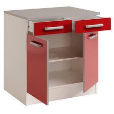 meuble bas de cuisine meuble bas de cuisine contemporain 80 cm 2 portes 2 tiroirs blanc