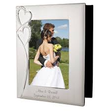 photo album personalized wedding silver photo album with frame