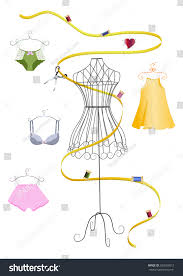 dress form measuring tape stock vector 393629812 shutterstock
