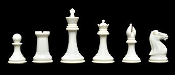 White Chess Set The Collector Series Plastic Chessmen 4 0