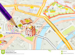 Metro Center Map by Moscow Map Detail Focus On City Center Editorial Image Image