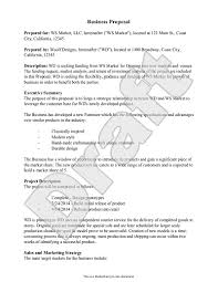 business proposal template business letter template