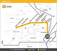 Link Light Rail Map Gold G Line