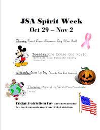 jsa spirit week extra credit mr goodwin u0027s us history