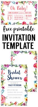 printable invitation templates floral borders invitations free printable invitation templates