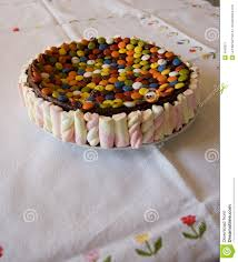 home made chocolate candy cake stock image image 4640071