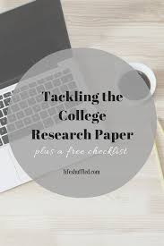 write my research paper for free tackling the college research paper plus a free checklist i just really like crafting sentences and the satisfaction that results when all of the elements of a paper come together