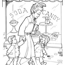candy store coloring kids drawing coloring pages marisa
