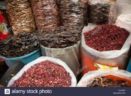 jamaica flower bags of dried hibiscus or jamaica flower petals tamarind and